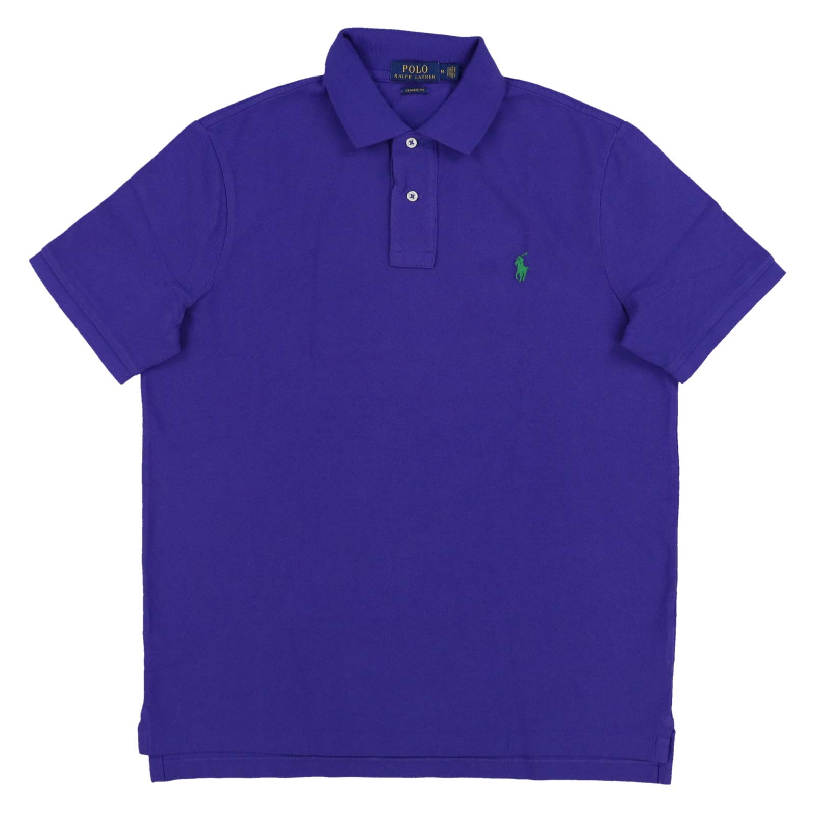 Polo Ralph Lauren Mens Classic Mesh Polo Shirt (XS, Dark Purple)