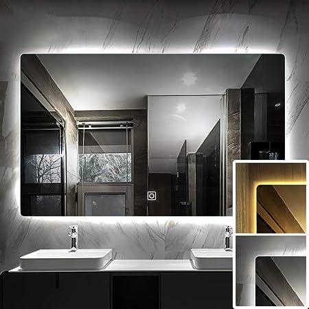 Specchio Da Bagno Con Luci Led.Specchio Da Bagno Con Luce Led Specchio Cosmetico Argento Senza