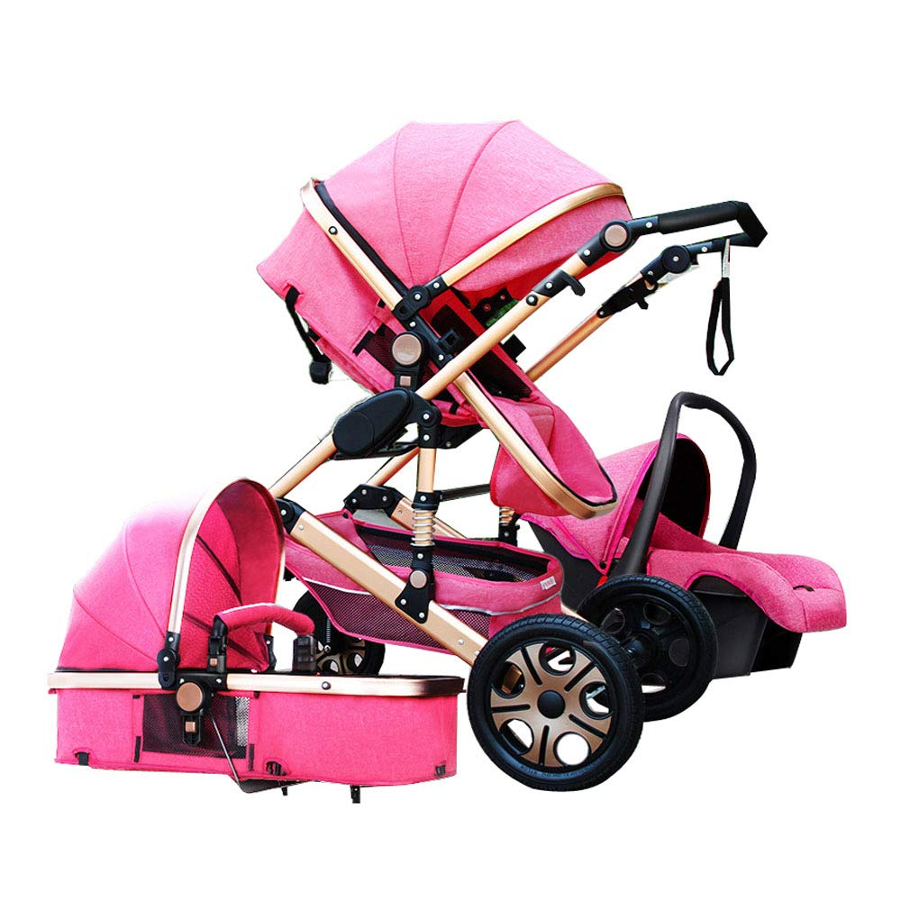 78dd6583bd69 Baby Stroller 3 in 1 with car for Newborn Alta Vista Folding Stroller Baby  Carriage Travel System Baby cart 3 em 1