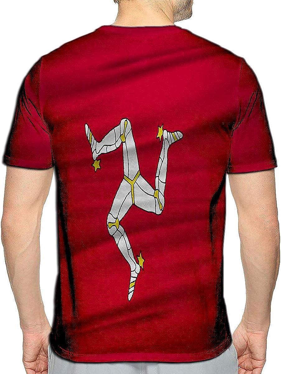 Randell 3D Printed T-Shirts Madrid Military Badge Realistic Looking Military Short Sleev