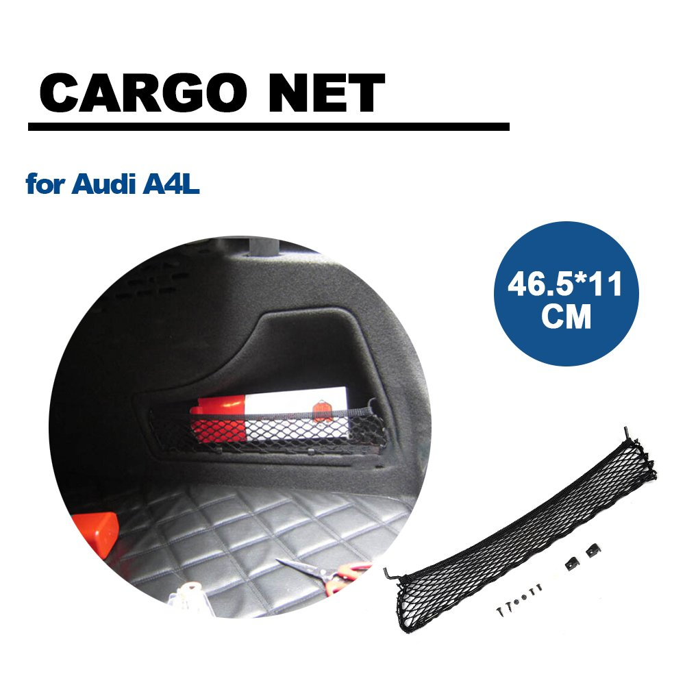 PP 300160 cm coche trasera maletero bolsillo de red para Audi A4L tgfof trasera bolsa de almacenamiento jaula