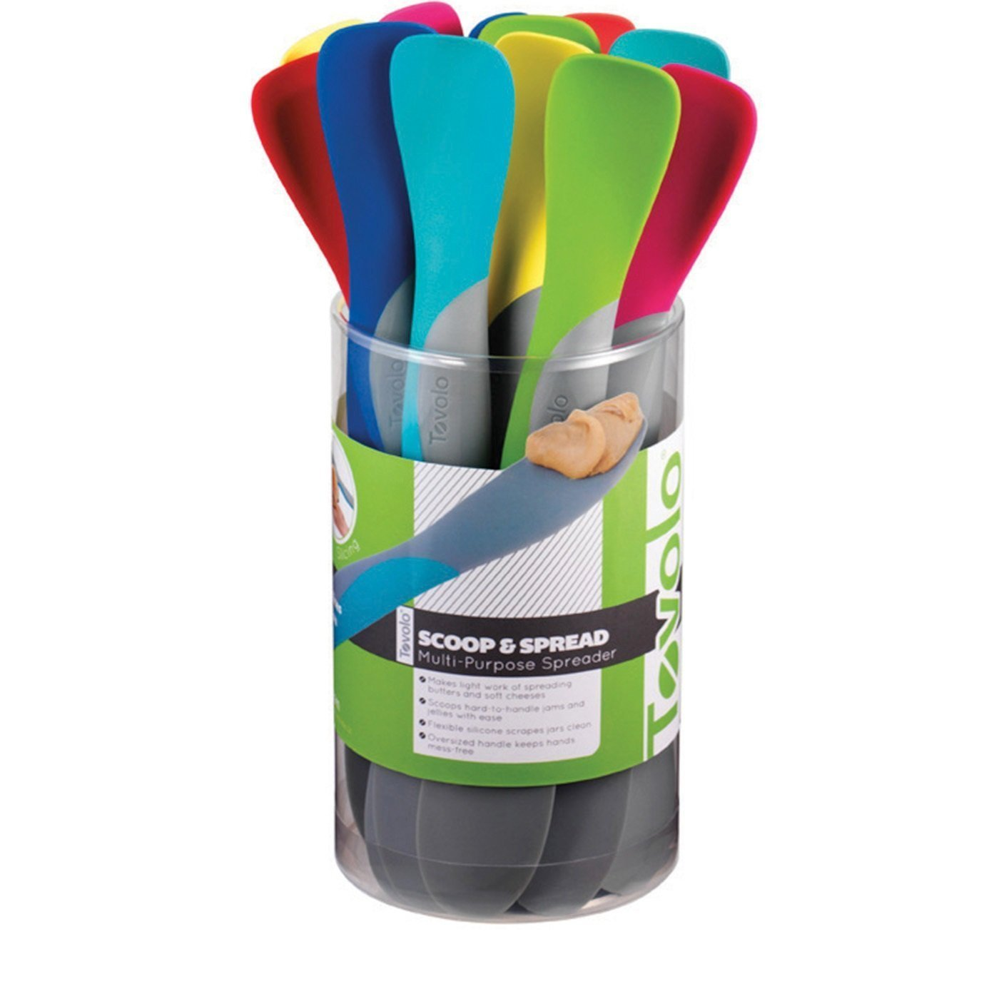 Tovolo Mini Scoop & Spread Spreader Spatula Assorted Colors 1 Piece 4733231