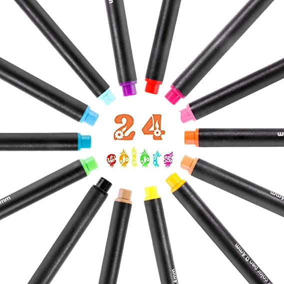 Vicky-Hoho - Juego de lápices de colores finos para presentación ...