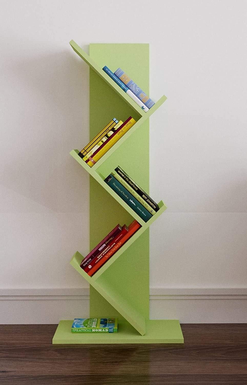Bianco Scaffalatura autoportante HOMIDEA Root Libreria Catalogo e Supporto per brochure dal Design Moderno