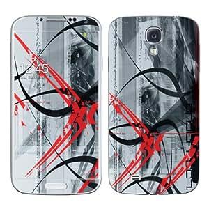 Diabloskinz B0098-0034-0019 Losing Color - Skin de vinilo para Samsung Galaxy S4, color rojo y gris