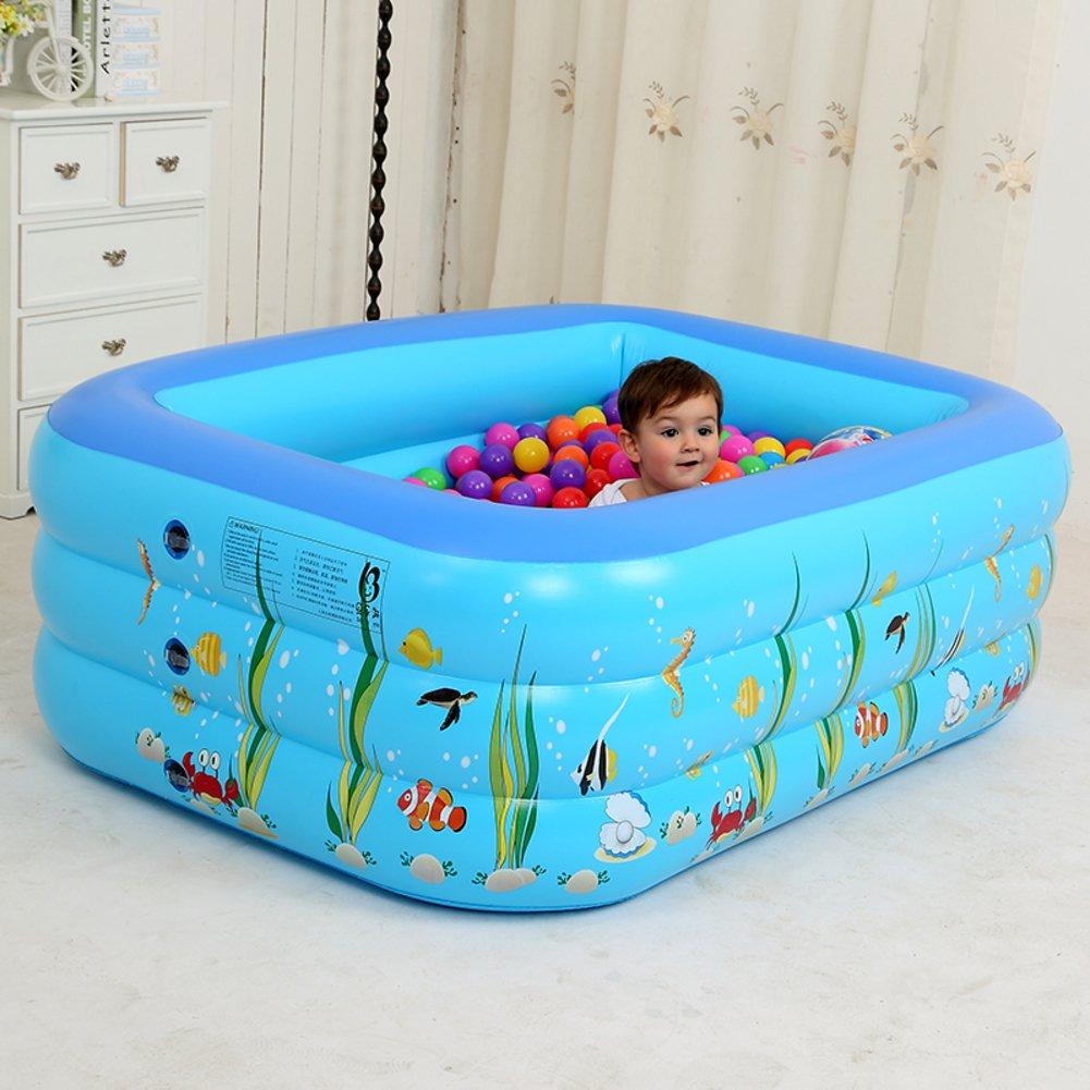 Aufblasbare Schwimmbecken/Kid marine Bällebad/Baby nach Hause Baden Kleinkinderbecken/Quadratische aufblasbaren Pool für Kinder-C