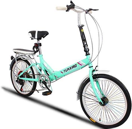 DBSCD Bicicletas Plegables para Estudiantes, Bicicletas Plegables Ciclismo para Mujer Bicicleta Plegable Mini portátil Ultraligera para Hombre: Amazon.es: Deportes y aire libre