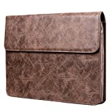 quick access safe pc 900 - Plemo 13 Inches Water Resistant Laptop Sleeve PU Leather Case with Magnetic Closure for MacBook Air and Pro 13, Dell XPS 13, Lenovo Yoga 13, HP x360, Acer, Asus, Notebook, Brown