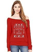 TeeStars - Winter Is Here Ugly Christmas Sweater Off shoulder sweatshirt
