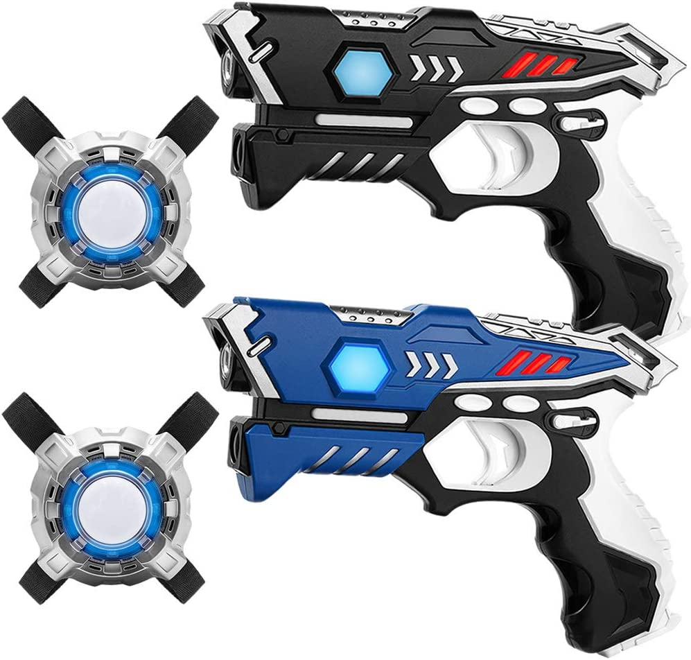 Set de marcadores KidFun Laser - 2 Pistolas + 2 Chalecos