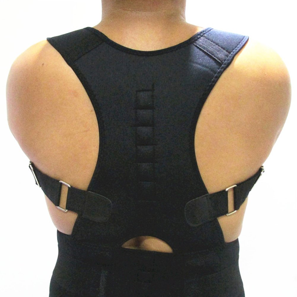 Magnetic Therapy Posture Corrector Brace Unisex for Women Men | Lumbar Pain Relief | Shoulders Back Belt Support (M 31 3/4''-35 1/4'')