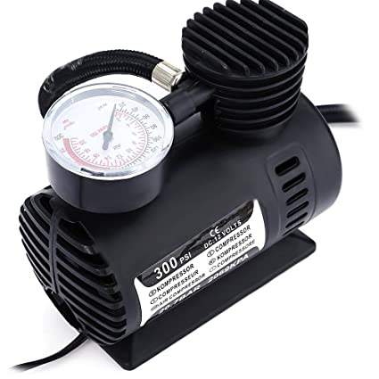 Black Portable 12V Auto Car Electric Air Compressor Tire Infaltor Pump 300 PSI