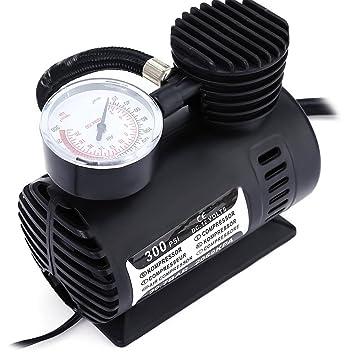 Lcx 300PSI 12 V Mini Compresor de Aire Portátil Auto Coche Eléctrico Neumático Bomba de Inflador de Aire: Amazon.es: Coche y moto
