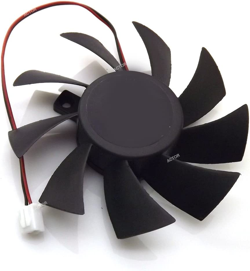 T128015SH 12V 0.32A 75mm 2 Pin Replacement Cooling Fan For N240 N250 GTS240 250 GTS450 Graphics Card Fan