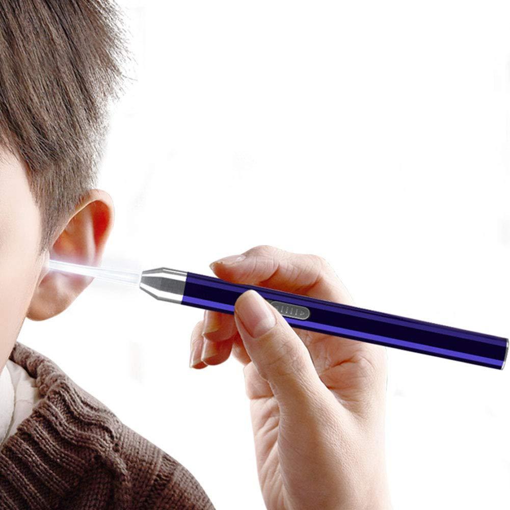 LanLan D/éboucheurs doreilles Lampe de Poche LED Ear Cleaner Earpick Set Enl/èvement de c/érumen Oreille cuill/ère Tweezer Ears Care Tool Blue