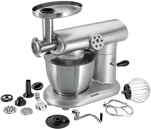 2 in1 Robot de cocina con cuenco picar carne y 5 litros de acero inoxidable amasadora para amasar Máquina de nieve escoba Licuadora (Potente 1000 W + 6 de niveles): Amazon.es: Hogar
