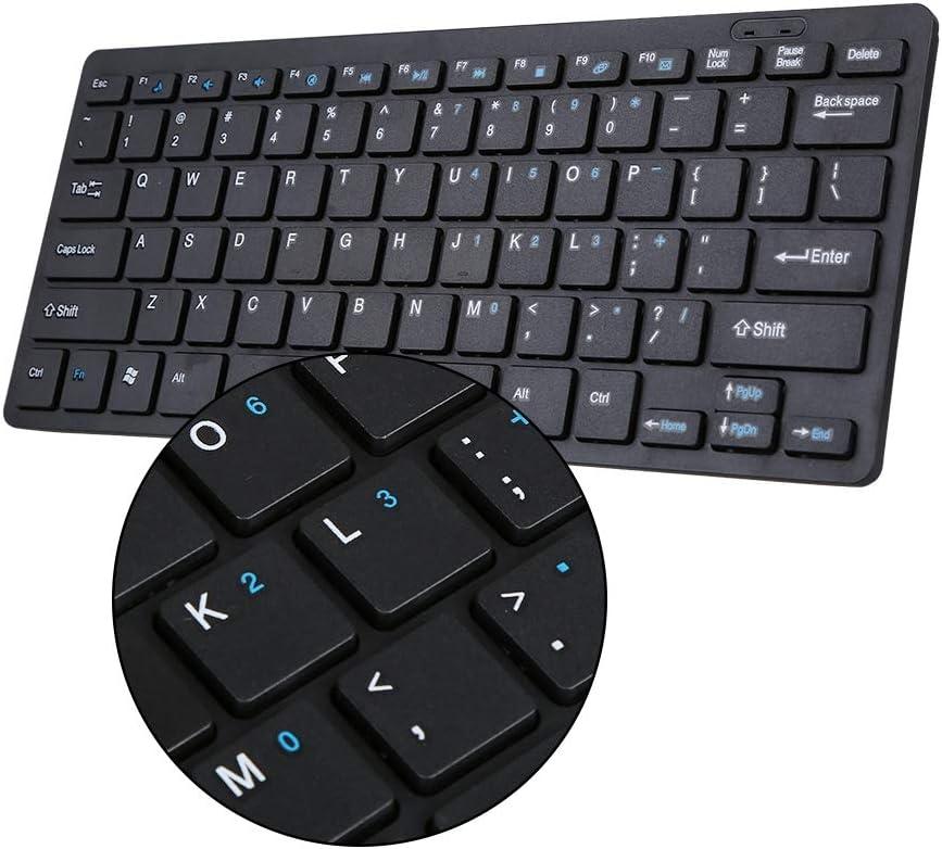 Mavis Laven Wireless Keyboard 2.4G Wireless Keyboard and Mouse Kit Keypad Ultra-Slim for Windows Apple Laptop