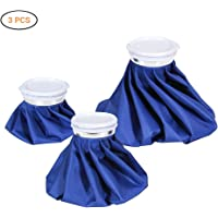 """Ourine Ice Bag, 3-Pack (6""""/9""""/11"""") Hot And Cold Reusable Ice Bag, Ice Cold Pack for Injuries, Hot & Cold Therapy and Pain Relief"""