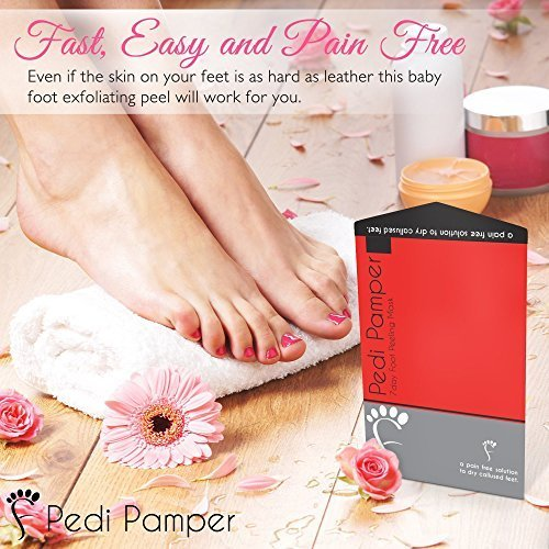 Baby Foot Peel Mask Treatment - Deep Exfoliation for Dry Dead Skin - Callus Removing Peeling natural Booties, 3.2 Fluid Ounce, Single Easy Pack kit