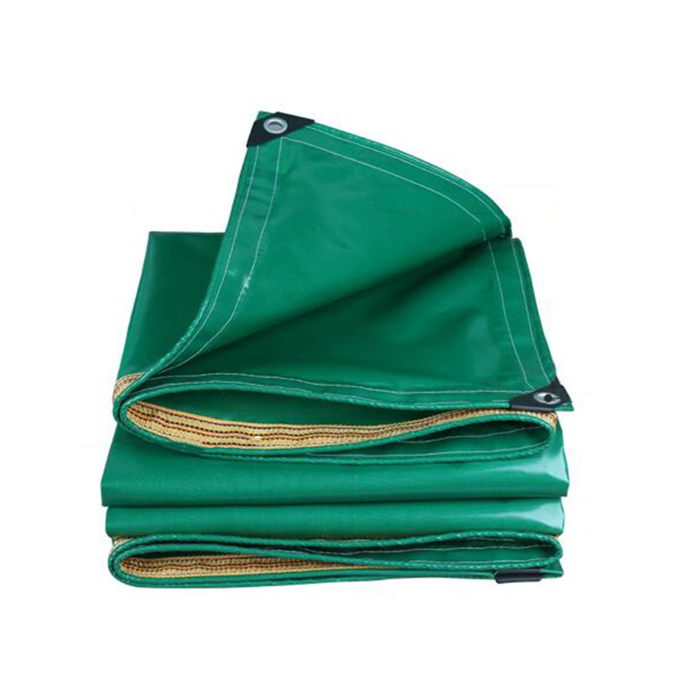 ZEMIN オーニング サンシェード ターポリン 防水 日焼け止め テント シート 防風 ルーフ 保護 絶縁 キャンバス ポリエステル、 緑、 350G/M²、 13サイズあり (色 : 緑, サイズ さいず : 2X2M) B07D4FRH4R 2X2M|緑 緑 2X2M