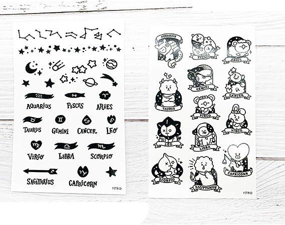 tzxdbh 10pcs-Traje de Dibujos Animados Pegatinas Tatuaje Pegatinas ...