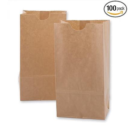 Amazon.com: Bolsas miniatura de papel kraft, 100 por paquete ...