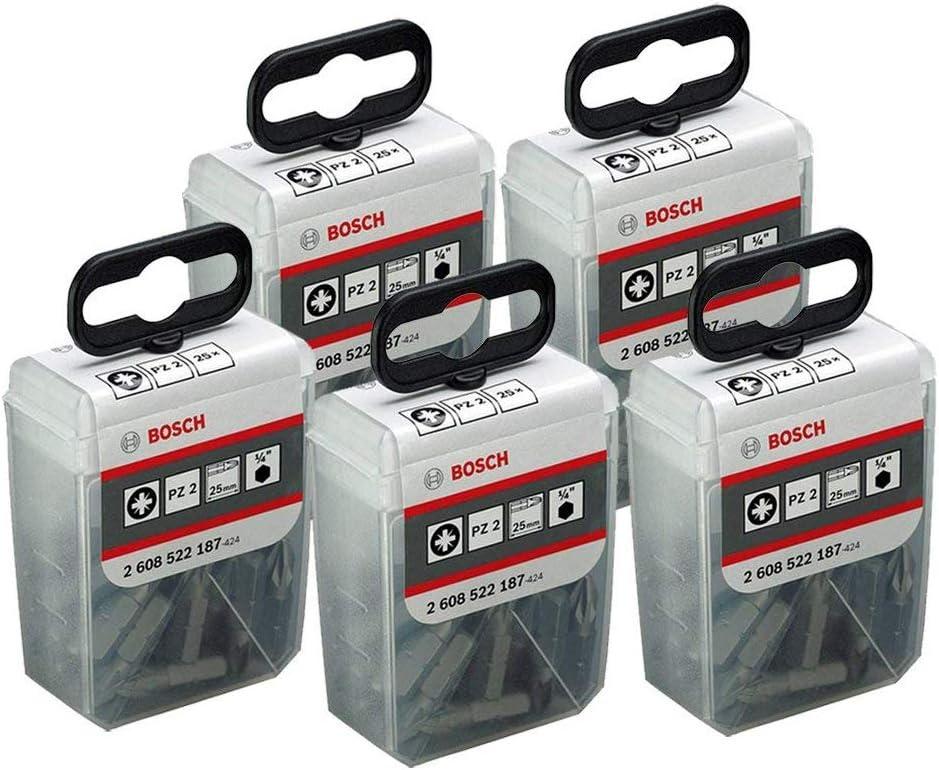 Bosch 2608522187 PZ2 extra dur 25 mm embout tournevis 25 Pièce Pack de 2