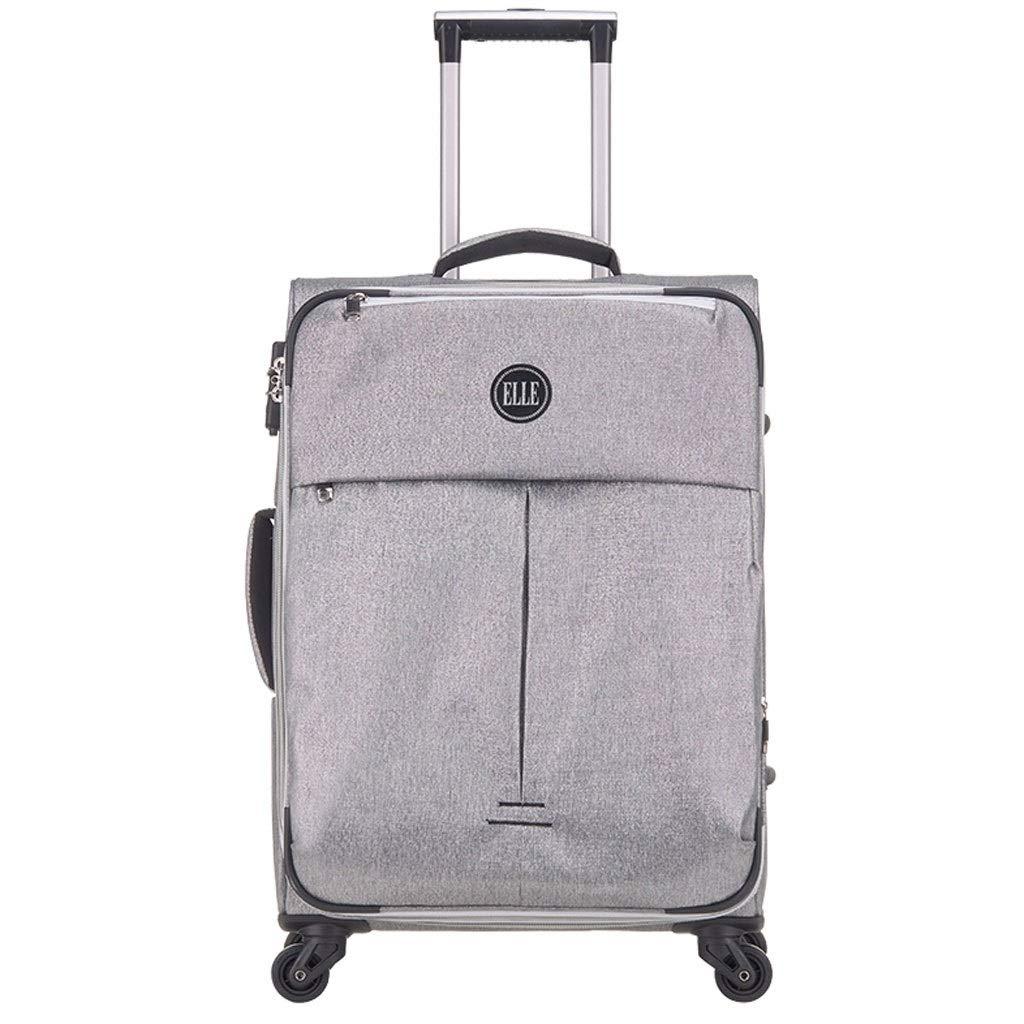 FRF トロリーケース- 灰色のビジネススーツケースの普遍的な車輪のパスワードスーツケース22インチの男性および女性 (色 : Gray, サイズ さいず : 22in) B07QP3KF6N Gray 22in
