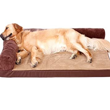 Cama para Perro Labrador Dog Sleeping Mat Large and Medium Pet Nest Golden Retriever Cojín para Perro Brown Double Rescue Extraíble y Lavable (Tamaño ...