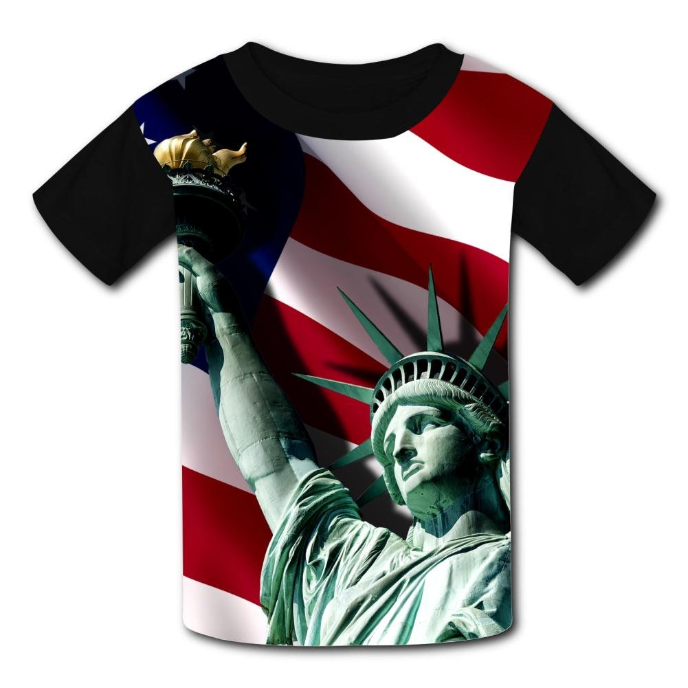 Kids//Youth USA Statue of Liberty T-Shirts Short Sleeve Children Tees