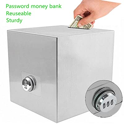Piggy Bank Stainless Steel,Biggest Safe Box Password Money Savings Bank for Kids: Clothing
