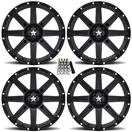 Amazon com: MSA M33 Clutch UTV Wheels/Rims Black 14