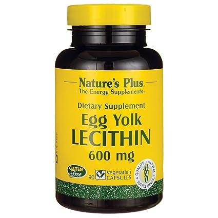 La lecitina de yema de huevo, 600 mg, 90 Caps Veggie - Plus de