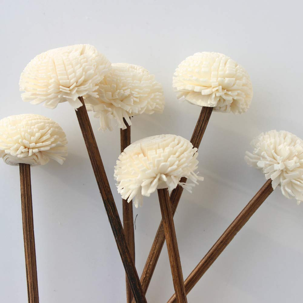 Jecengs Pack of 30 Brown Rattan Reed Fragrance Diffuser and Flower Replacement Refill Rattan Sticks