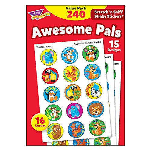 Stinky Stickers Value Pack - TREND enterprises, Inc. T-83914BN Awesome Pals Stinky Stickers Value Pack, 240 Per Pack, 3 Packs