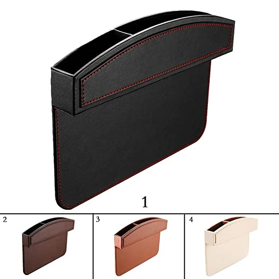 PU Leather Car Seat Console Side Anti Drop Gap Filler Storage Catcher Kobwa Car Seat Side Pocket