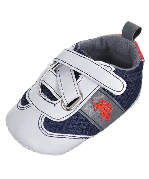 U.S. Polo Assn. Bebé &Quot;Correa de Cruzado de Los Niños Zapatillas Botines: Amazon.es: Zapatos y complementos