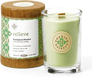 product image for Root Candles Seeking Balance Small Spa Candle, 6.5-Ounce, Relieve: Eucalyptus Menthol