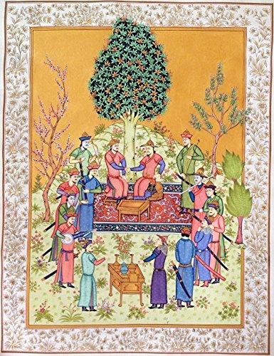 Persian Shahnama Miniature Painting Handmade Epic of Kings Qasim Firdausi Art (Persian Art Miniature)