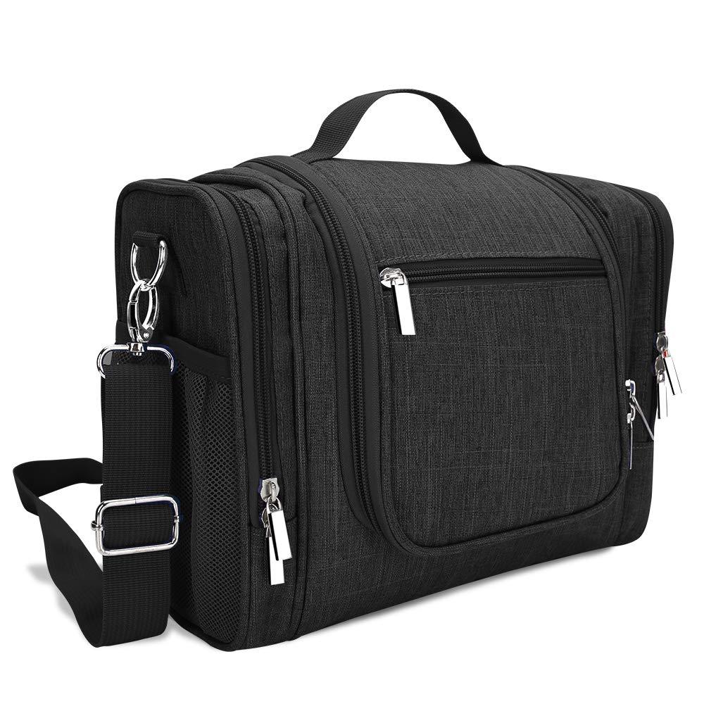 Neceser de Viaje Bolsa de Aseo Organizador de Viaje con Gancho Robusto y Compartimento Separable, Neceser Premium, Impermeable y Colgante, Ideal para Viajar & Camping