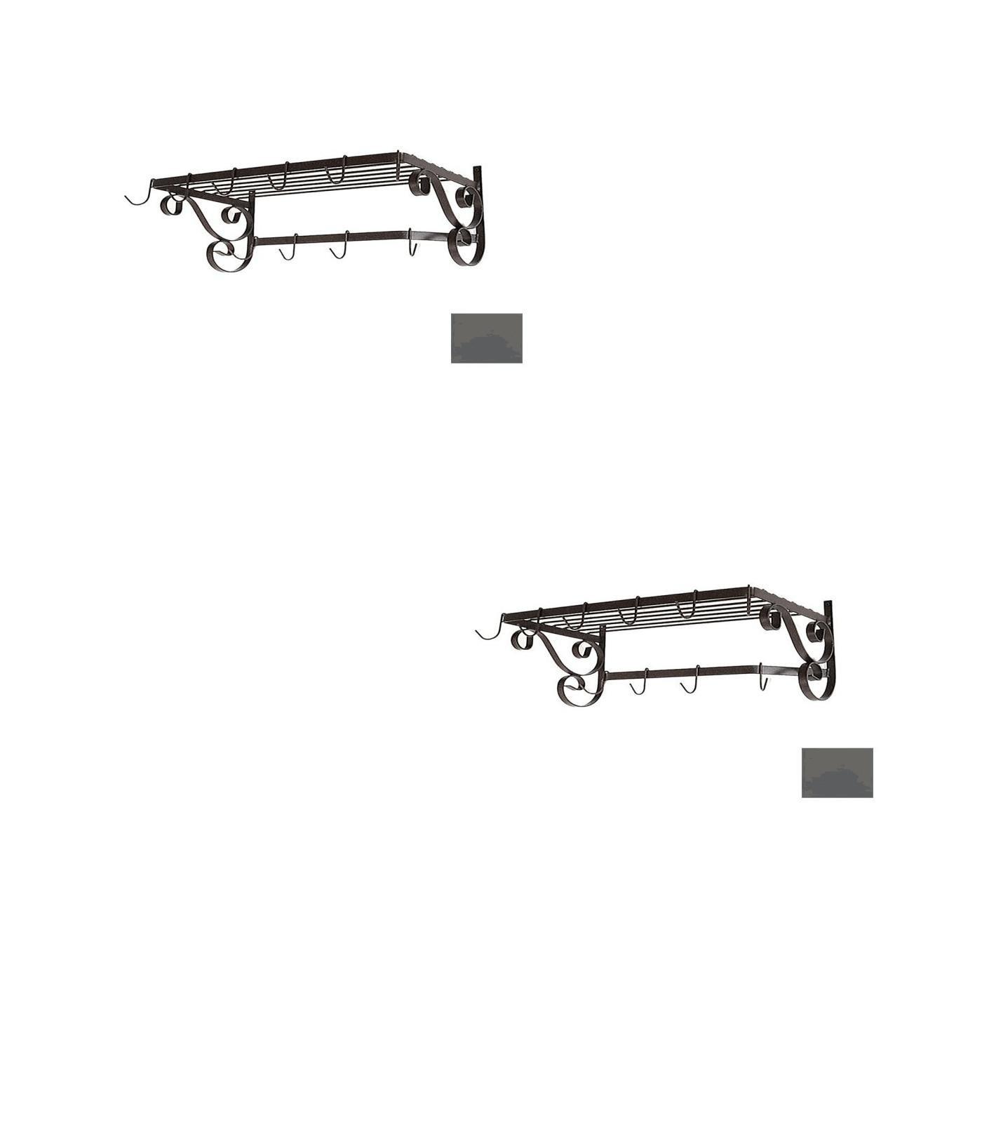 24-1/2-in x 13-in Jade Teal Rectangle Pot Rack - Grace Collection Model - GMC-WR24-UB-JT - Set of 2 Gift Bundle