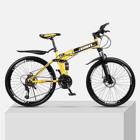 DSAQAO Bicicletas MTB De Suspensión Completa,24 Pulgadas ...