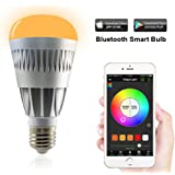 MagicLight Pro Bluetooth Smart LED Light Bulb - Smartphone Controlled Sunrise Wake Up LED Lights - Dimmable Multicolored Color Changing Party Lights Bulb - 10 Watts
