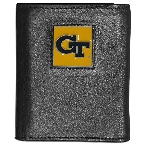 NCAA Georgia Tech Deluxe Leather Tri-fold Wallet (Tri Fold Tech)