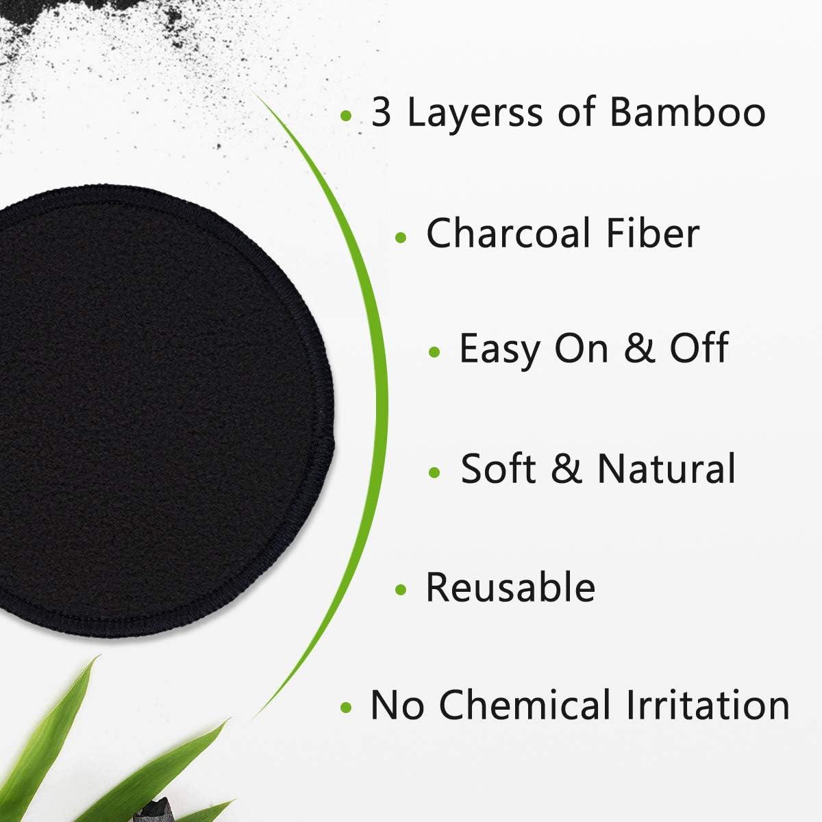 Set Coton Demaquillant Lavable MIC 10PCS Tampons D/émaquillants Bambou Tous types de peau R/éutilisables /& /Écologique