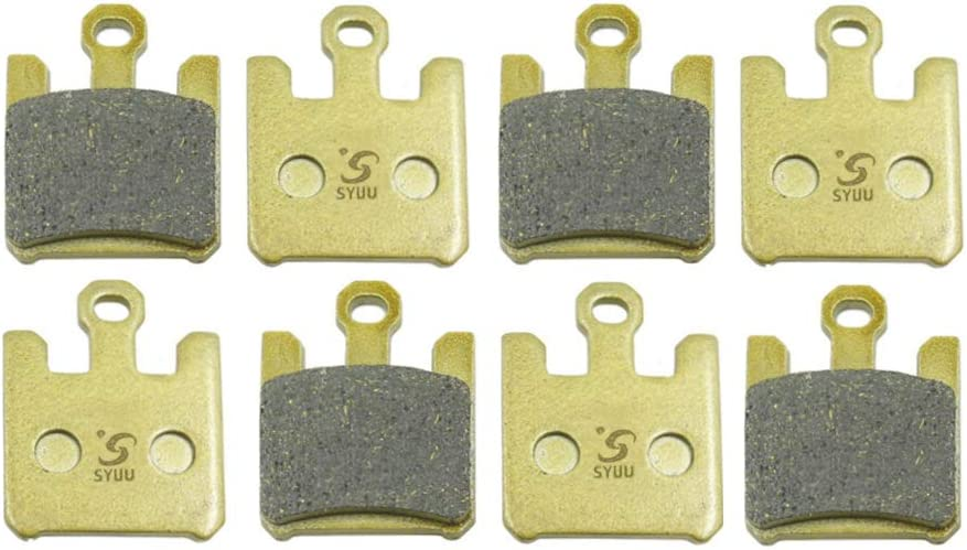 SYUU Motorcycle Replacemen Front Brake Pads Brakes for Kawasaki ZX6R ZX6RR 03-06 ZX10R 04-07 ZX12R 04-06 VN1600 05-08 F369FF