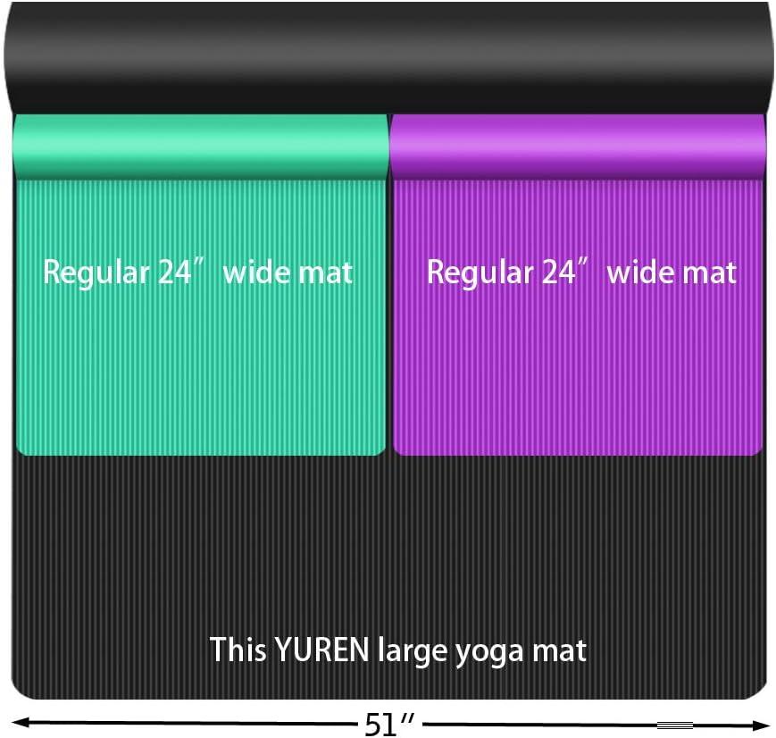 Amazon.com: YUREN XL - Esterilla de yoga de 0.394 in de ...