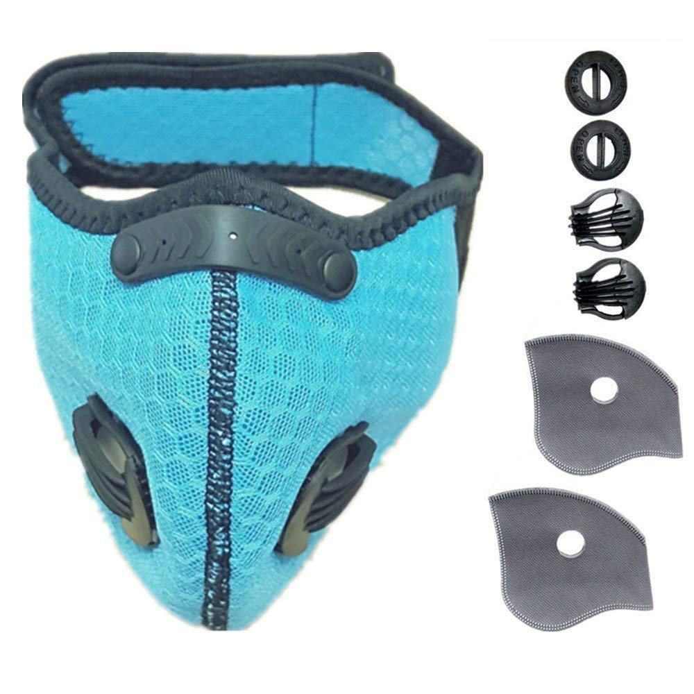 Ligart Activated Carbon mask Filter for Dust Mask Dustproof Mask Filtration Exhaust Gas Anti Pollen Allergy PM2.5 Air Filter Mask for Running Cycling and Other Outdoor Activities by Ligart