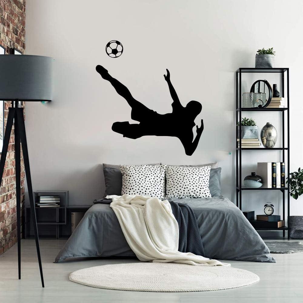 BailongXiao Jugador de fútbol español de Dibujos Animados Etiqueta de la Pared Jugador de fútbol francés Deporte Etiqueta de la Pared decoración de la habitación del niño