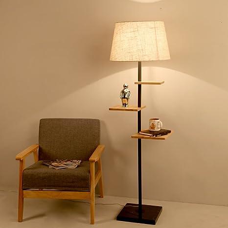 Lampada da Terra Vintage FREELX Lampada da Pavimento Legno Piantana Lampada da Terra Classica Piantana Lampada da Terra Classica